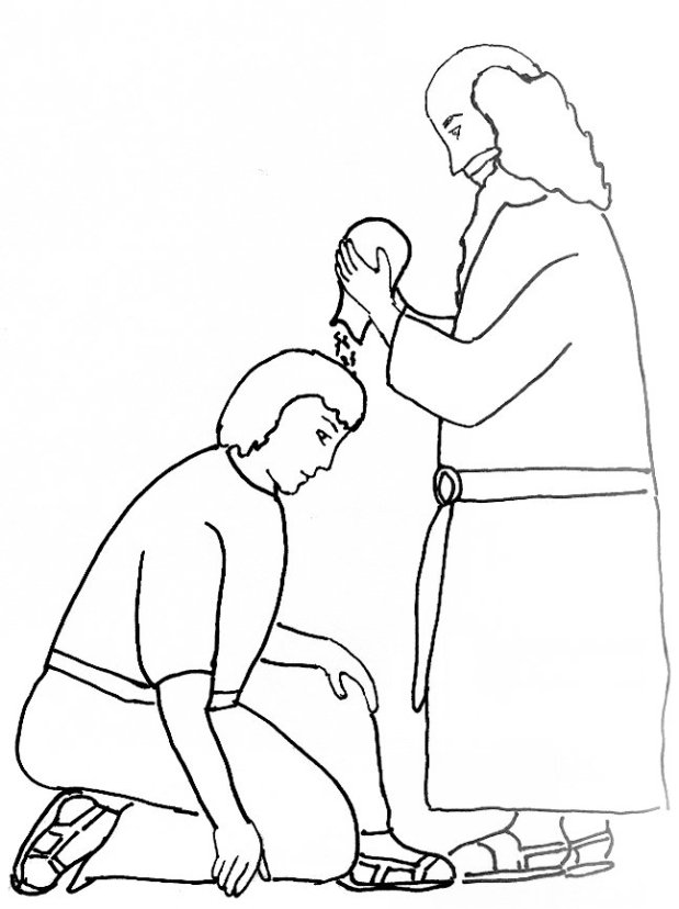 King saul coloring pages for kids ~ Bible Story Coloring Page for Samuel Anoints King Saul ...