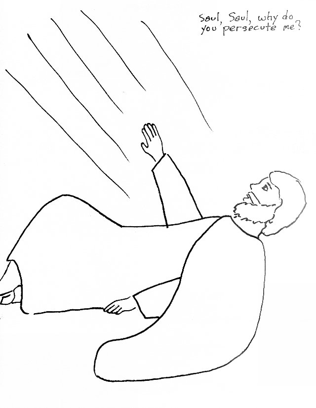 saul on damascus road coloring page
