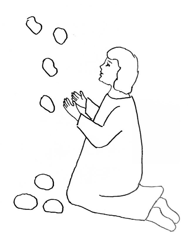 Bible story coloring page for stephen like the face of for Dorcas in the bible coloring pages