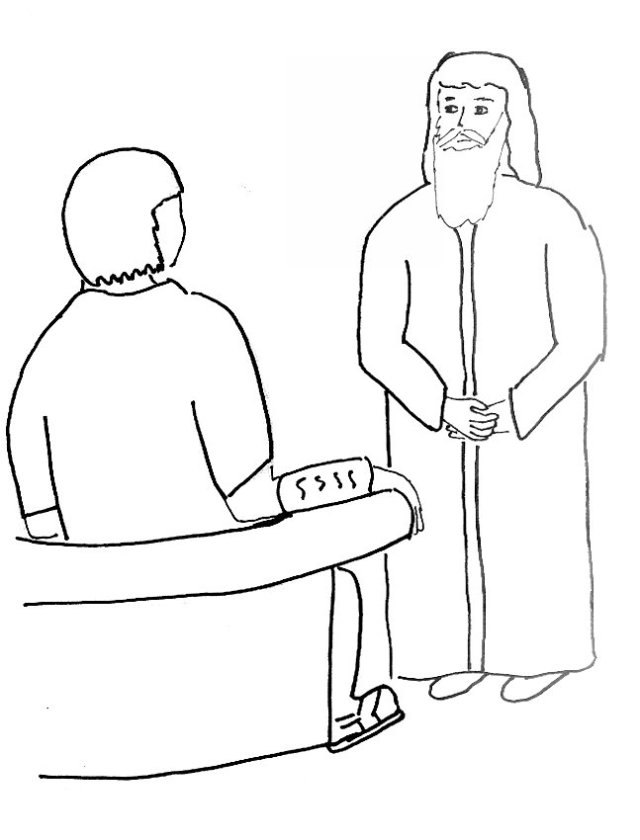 trial of Lord Jesus coloring page